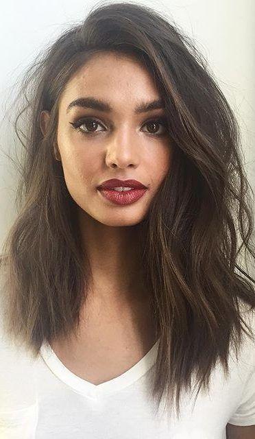 27 tagli di capelli lunghi per capelli spessi che si ispireranno nel 2019 – Samantha Fashion Life