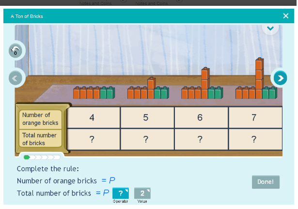Patterns Sequence for standard 5 Math activities