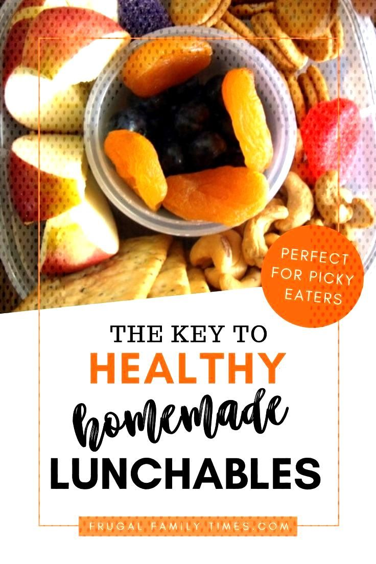 The Key to Homemade Lunchables. An easy, healthy way to feed kids - especially picky eaters. Ideas