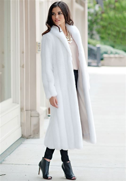 7eae48d791e White Mink Signature Full-Length Faux Fur Coat - 3   My Style / My ...