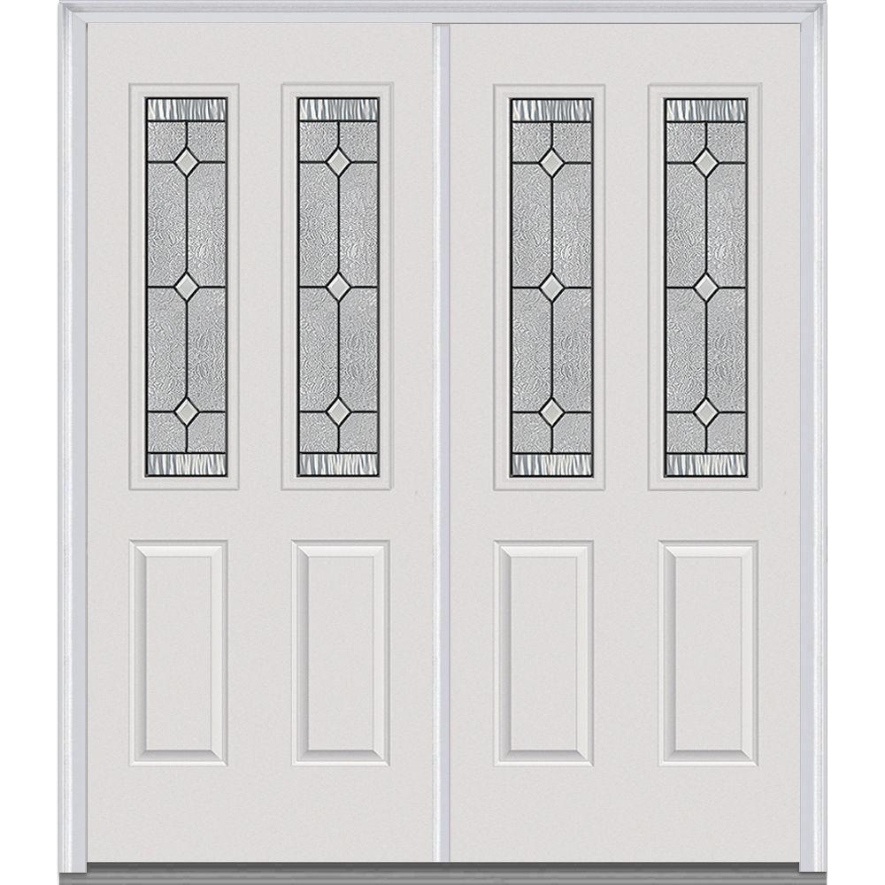 Milliken Millwork Double Doors Exterior Door Grill Glass