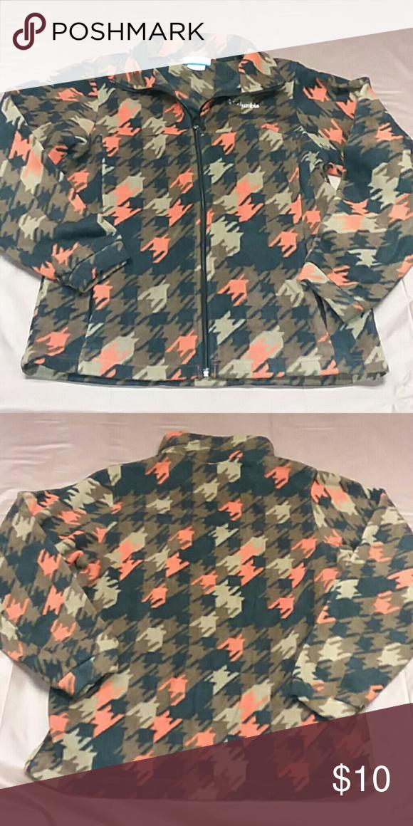 308a0a377238e Columbia boys 18-20 brown, orange, black fleece pu pullover, patterned, EUC  Columbia Shirts & Tops Sweatshirts & Hoodies