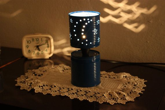 Lampada Barattolo Di Latta : Barattolamp lampada con barattoli di latta by myitchyfeet on etsy