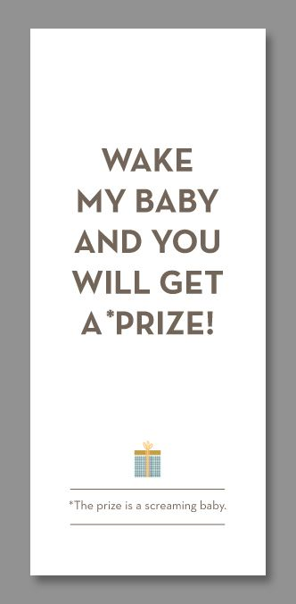 Funny Do Not Disturb Baby Door Hangers  Babies Baby Baby And Nursery