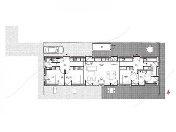 Un plan compact Steel - plan d interieur de maison