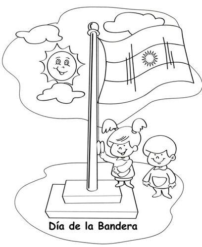 dibujos para colorear del dia de la bandera argentina | Imagenes ...