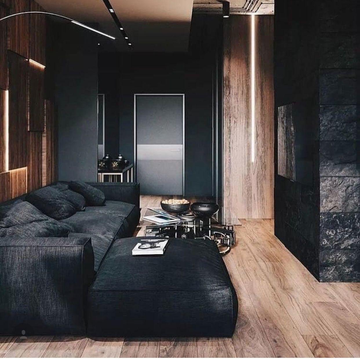 Natural Wood Black Minimalism Interior Minimal Interior Design Home Interior Design