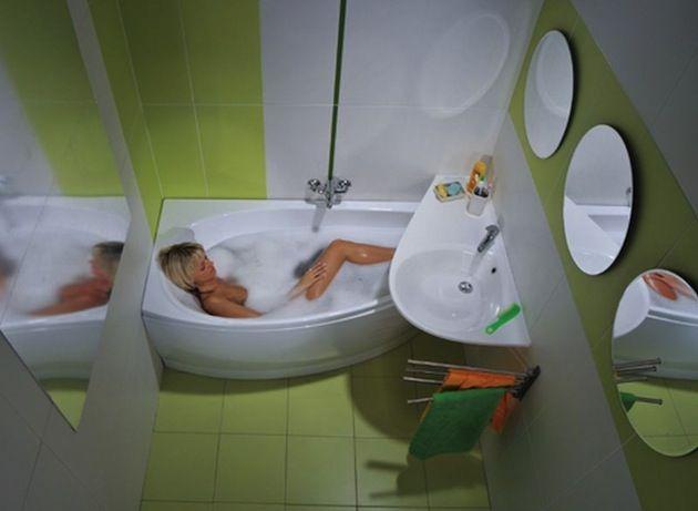 ванная комната дизайн фото для маленькой ванны бюджетный вариант 6