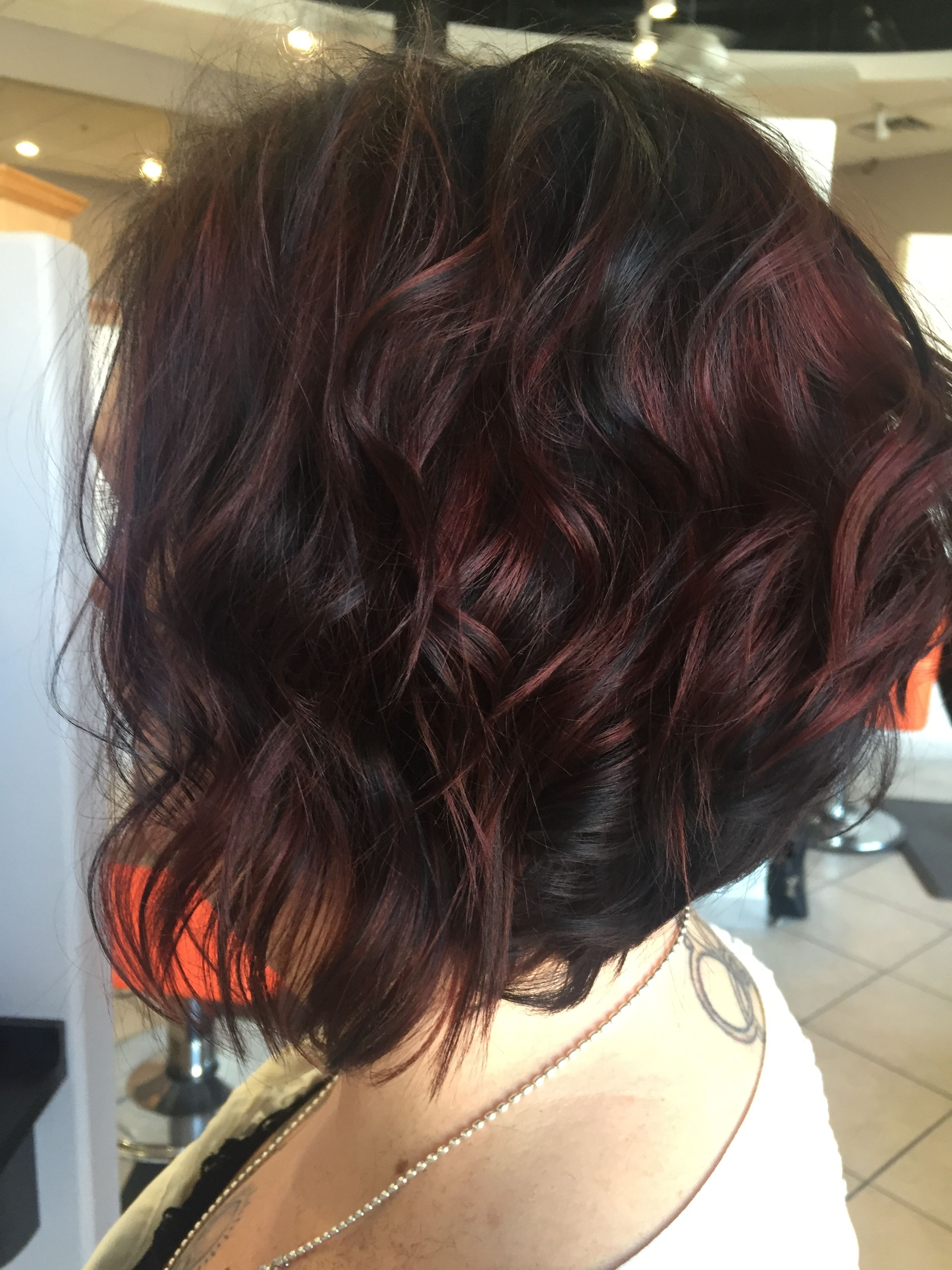 Fall hair color. Chocolate cherry! @DolledupbyShelby ...