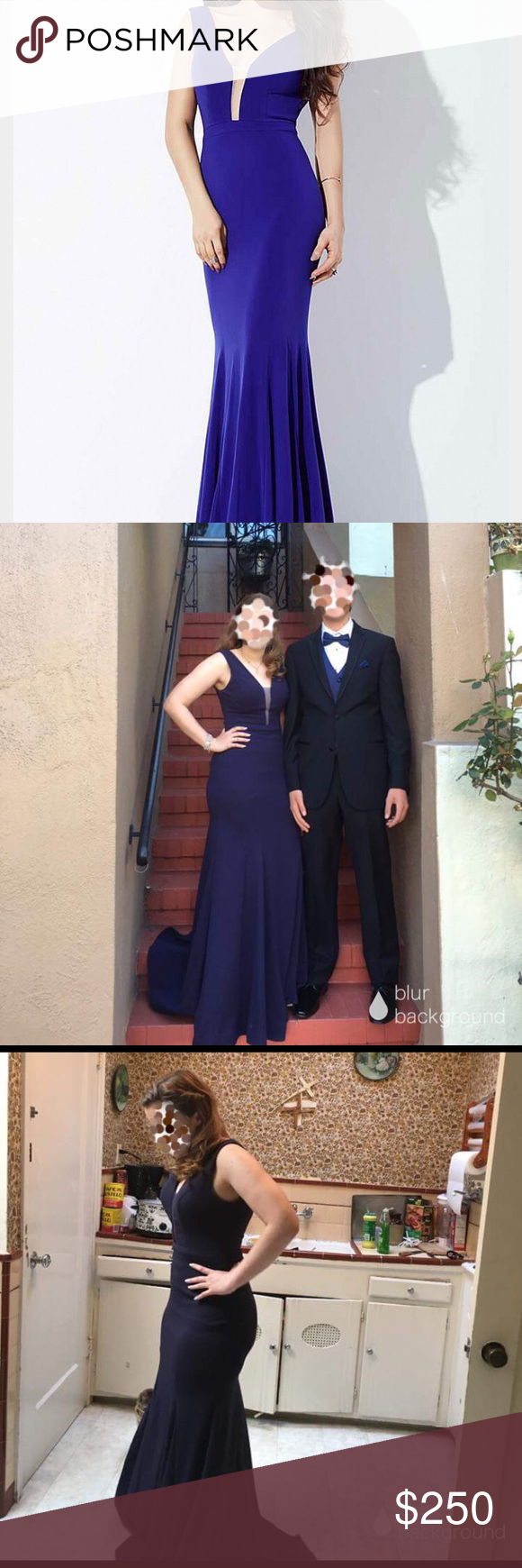 Navy blue prom dress dress is navy blue size worn twice the shop