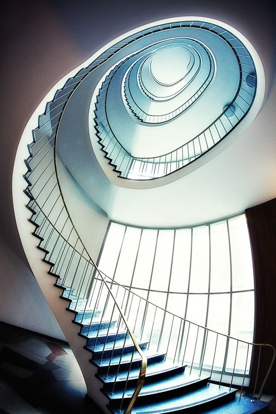 Amazing Spiral Effect #architecture #interior #stairs #spiral #spiralstaircase #abstract #photography