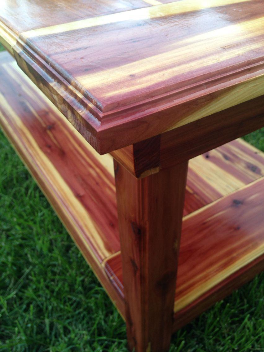 Cedar Coffee Table Cedar Wood Projects Cedar Woodworking