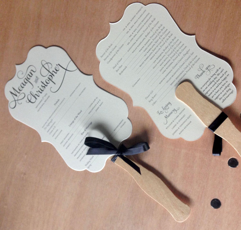 Wedding Program Fan -- Wedding Fans, Wedding Program Template, Fan ...