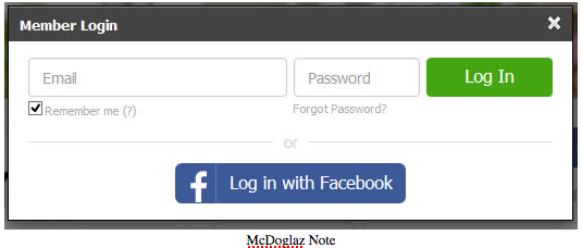fb login sign up