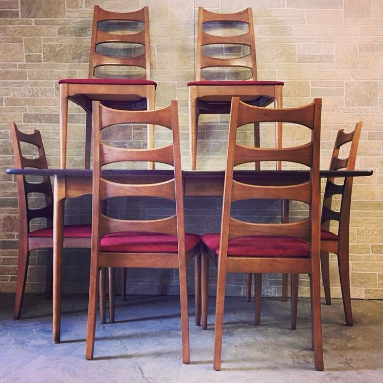 Restored Mid Century Dining Set By Kroehler #Minneapolis #midmod #mcm  #minnesota #