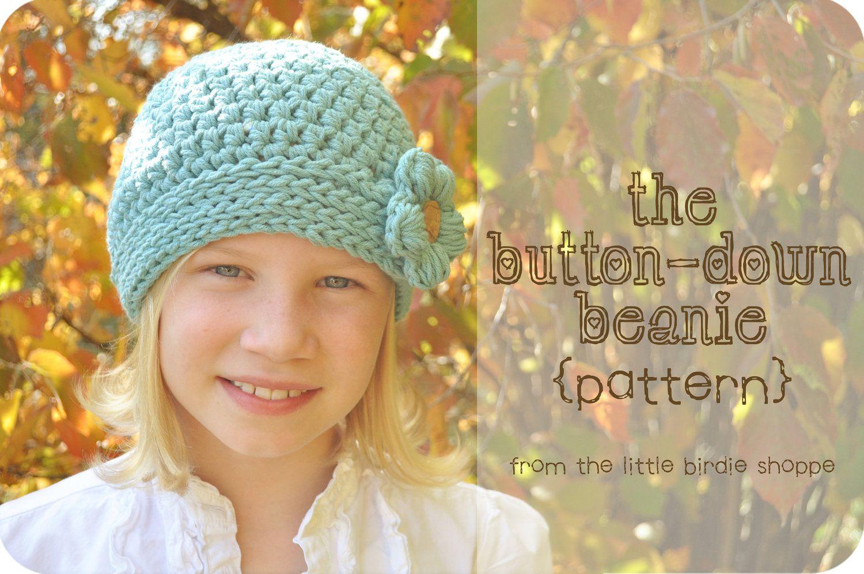 The button down beanie crochet hat pattern babies boys girls w the button down beanie crochet hat pattern babies boys girls w flower dt1010fo