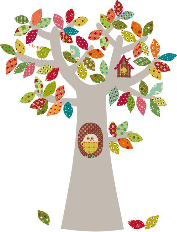 Vinilos infantiles decohappy vinilo infantil arbol alegre trees pinterest - Vinilos de arboles infantiles ...