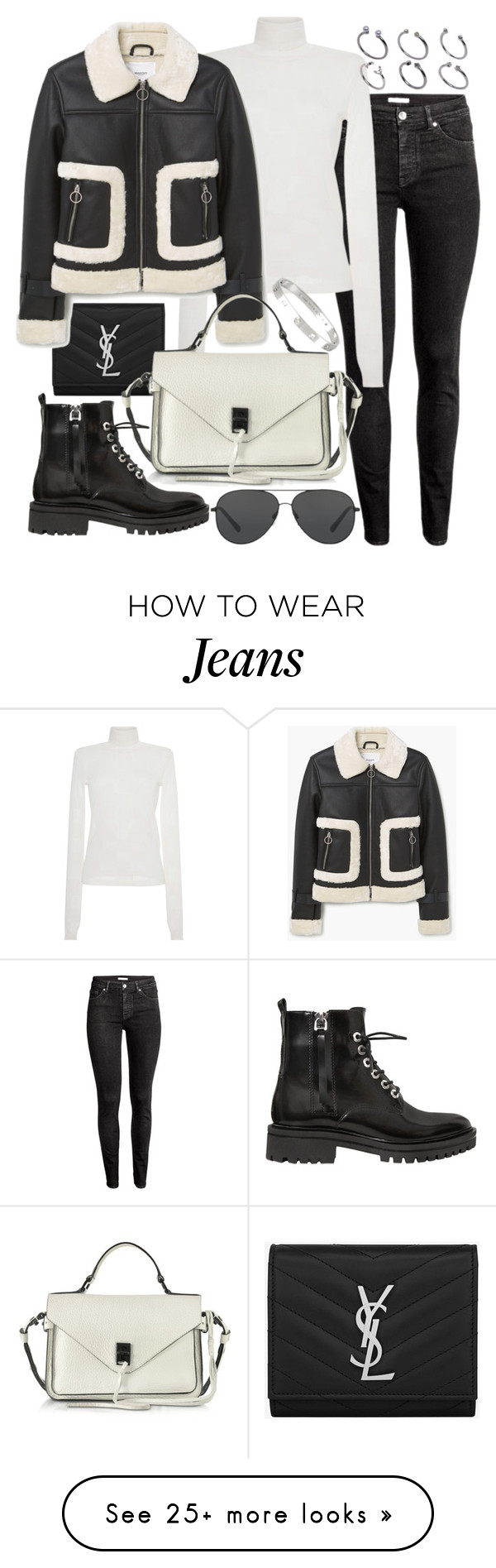"""Untitled #20506"" by florencia95 on Polyvore featuring Yves Saint Laurent, MSGM, MANGO, Rebecca Minkoff, Kendall + Kylie, Michael Kors, Cartier and ASOS"
