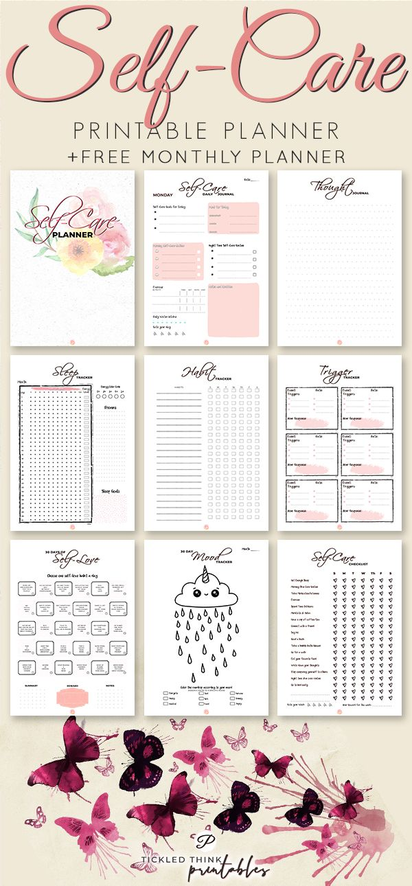 Self-Care Printable Planner + 2019 Planner #relationships