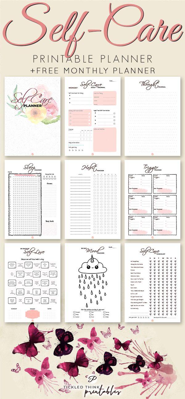 Self-Care Printable Planner + 2019 Planner #relationships