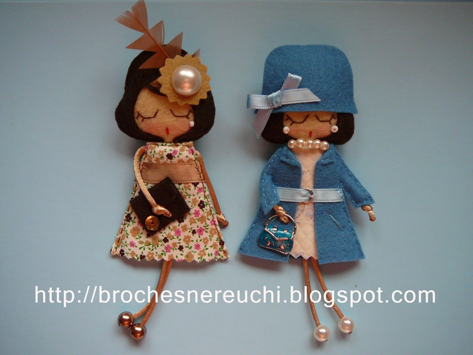 Broches nereuchi manualidades inteligentes pinterest - Broches de fieltro munecas ...