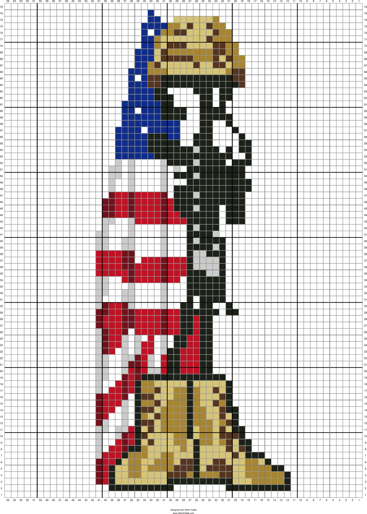 ARMY BOOTS / FLAG 76 x 55 GRAPH SQUARES | Cross-stitch and ...