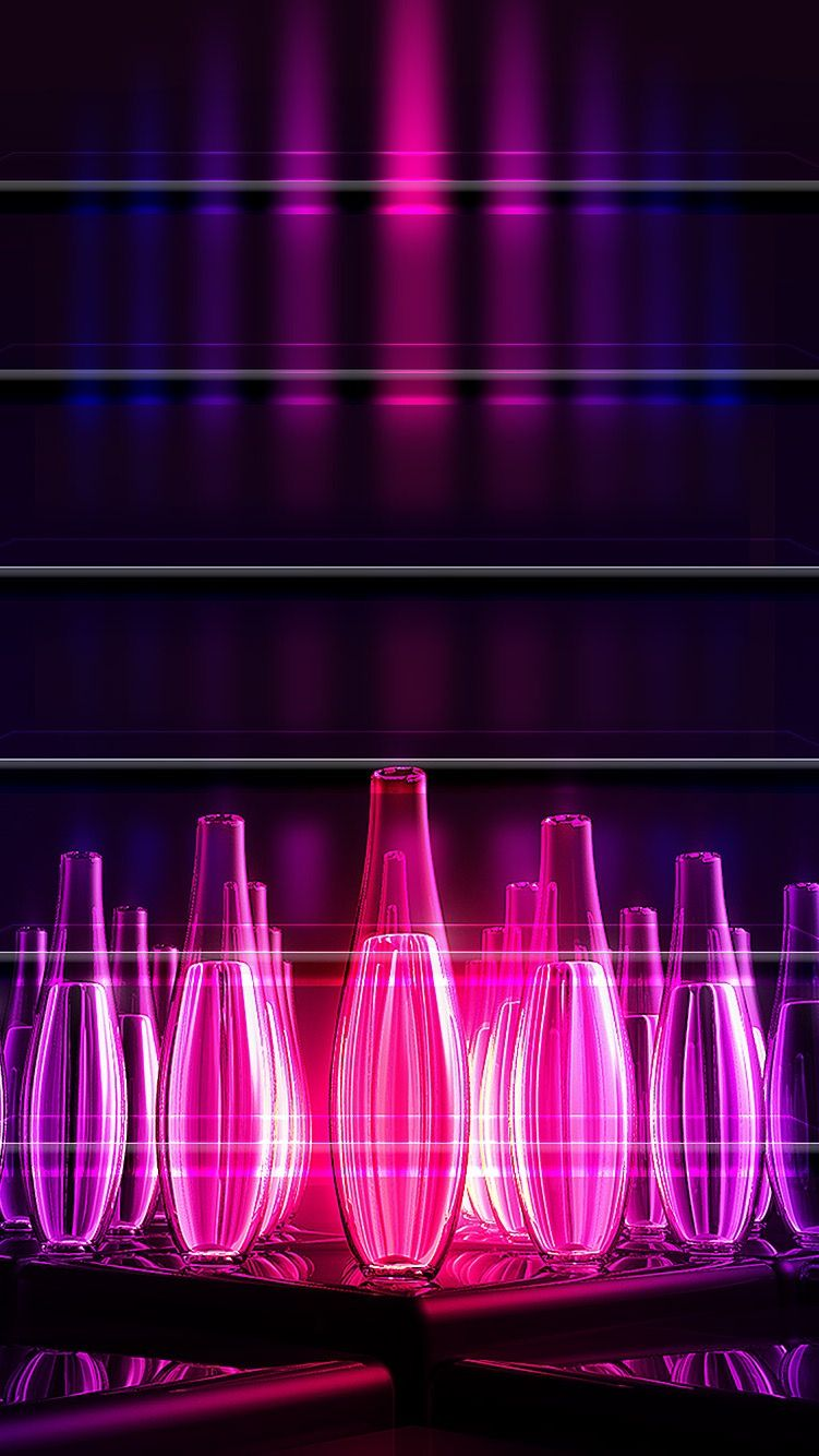 Tap And Get The Free App Shelves Bowling Abstract Art Purple Bright Neon Cool Hd Iphone 6 Wall Wallpaper Iphone Neon Purple Art Abstract Iphone 6 Wallpaper