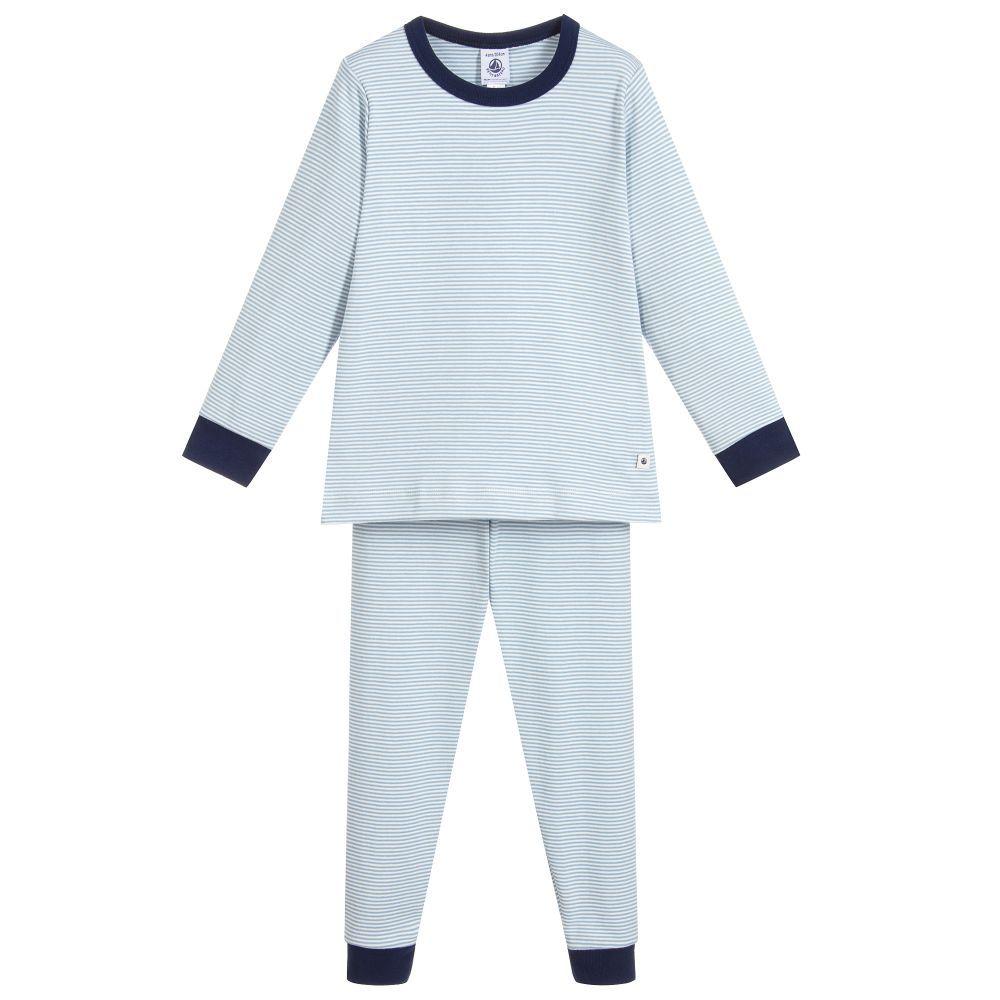 Blue//Navy Toddler//Kid Petit Bateau Little Boys Striped Loungewear
