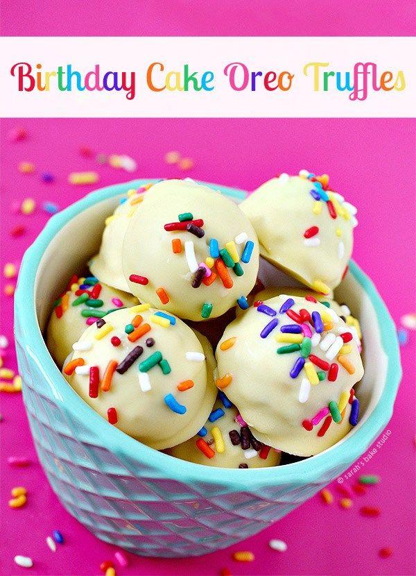 Birthday Cake Oreo Truffles Recipe Truffle Oreo and Birthday cakes