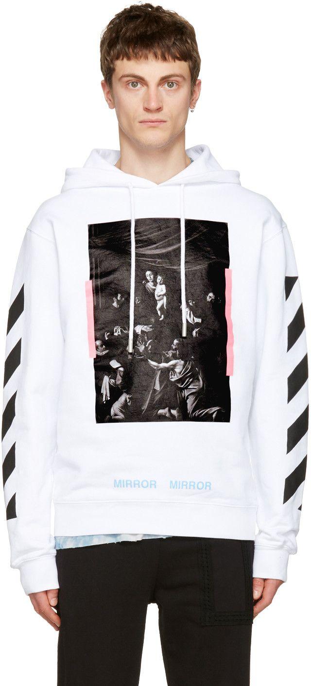 093f0ee63c02 OFF-WHITE White Diagonal Caravaggio Hoodie.  off-white  cloth  hoodie