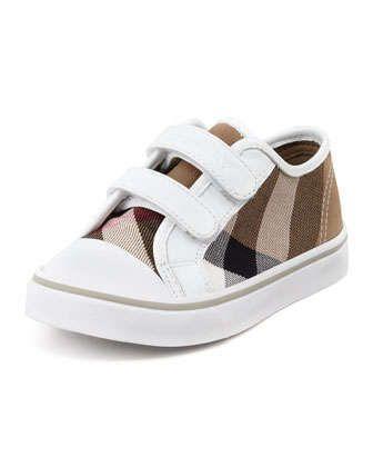 52b109ccede0a Check Double-Strap Sneaker