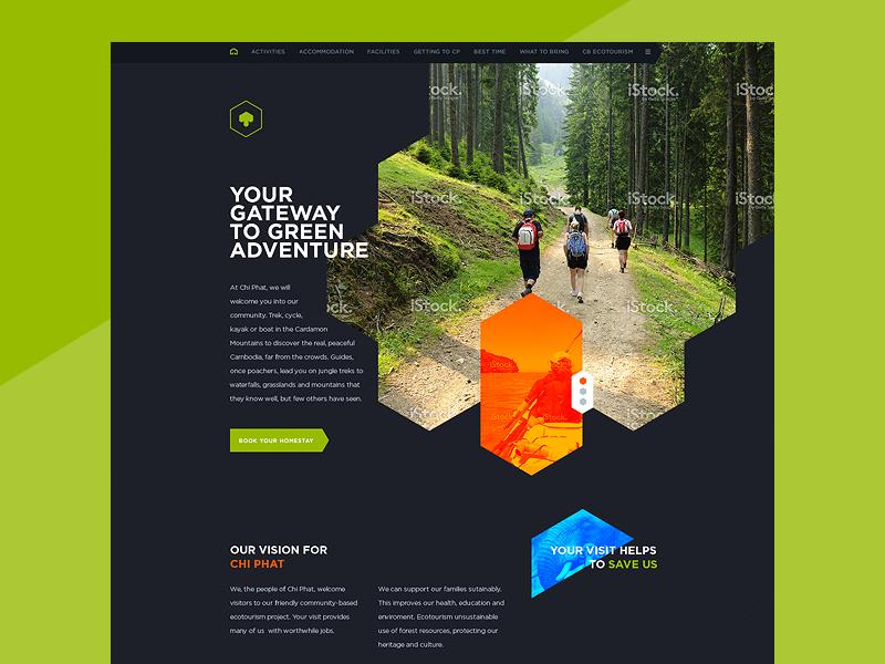 Eco Village Website Blog Design Inspiration Web Design Web App Design