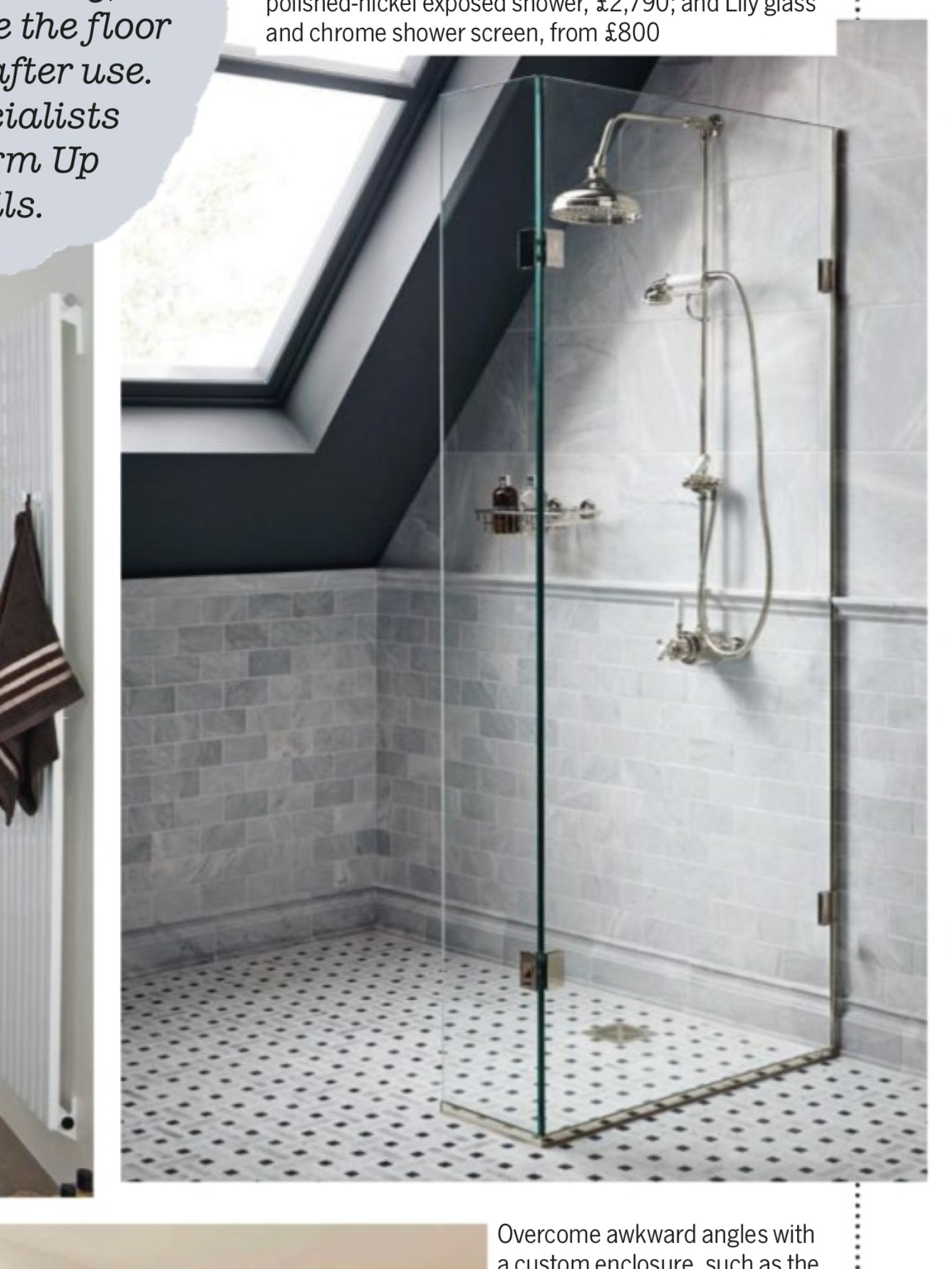 Attic shower option