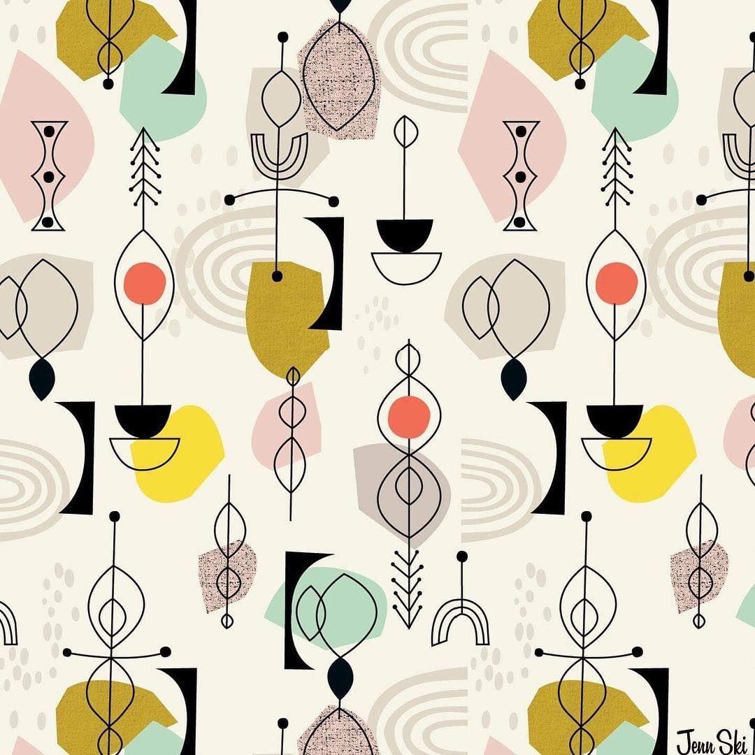 "N.H. Artist on Instagram: ""#repeatpattern #jennski #illustration #geometric"""