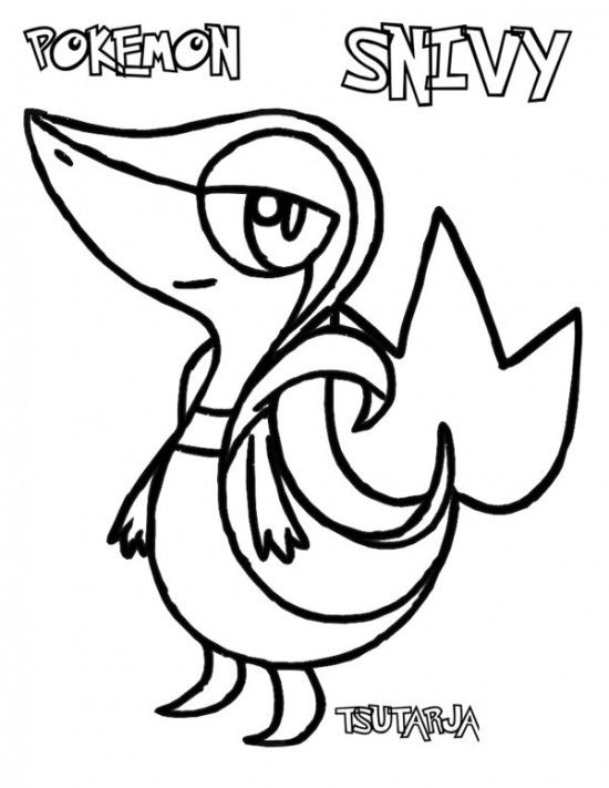 Pokemon Snivy Coloring Pages Immagini