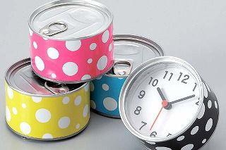 *磁石付きのかわいい置き時計*缶マグネットクロック BUBBLE バブル