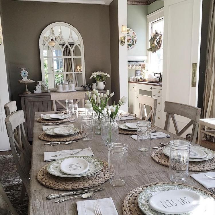 24+ Awesome Spring Dining Room Table Centerpiece Ideas