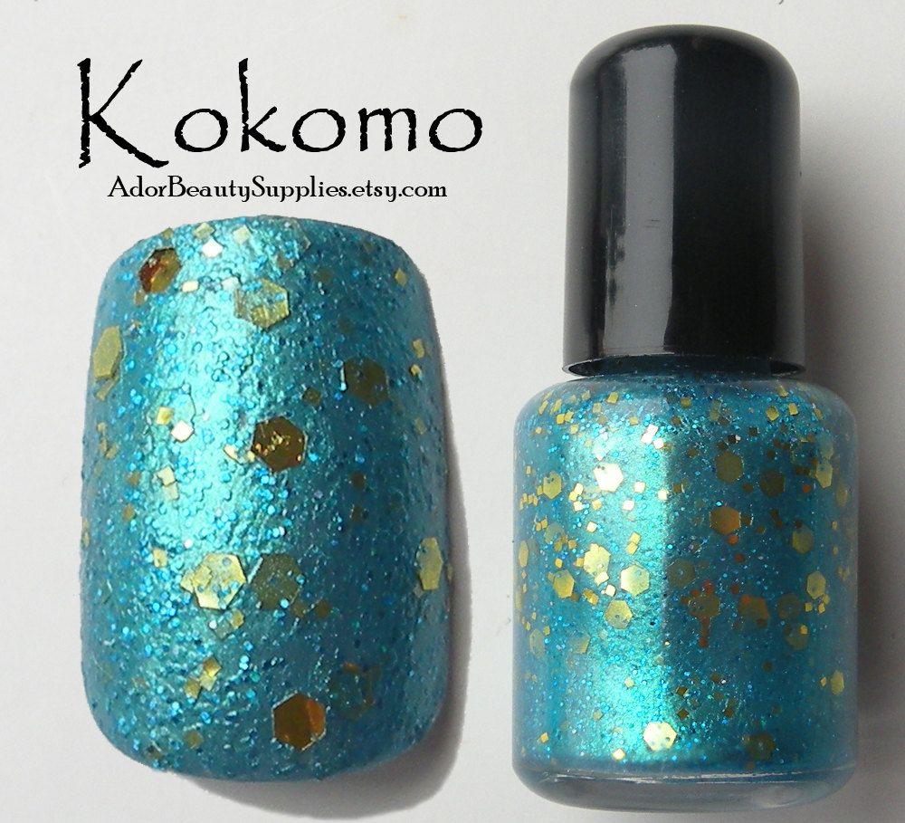 Kokomo Nail Polish 8ml Vegan Glitter Polish by AdorBeautySupplies ...