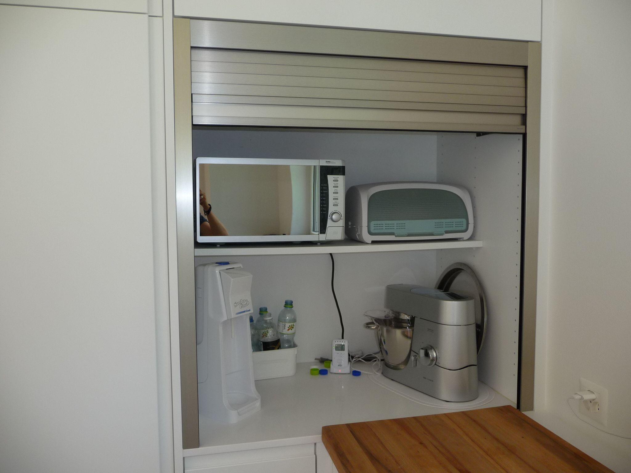 Rolloschrank Küche   Große U Küche Weiß Lack Salbei Nur 6666 Nur Die ...