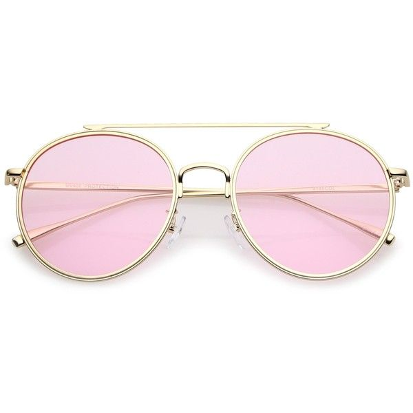 Modern Slim Round Pantone Aviator Sunglasses A871 ($11) ❤ liked on ...