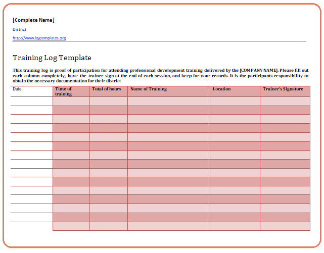 A Training Log Template Is Any Kind Of Personal Record That You Keep Of Your Workout And Allows You To Keep Trac Templates Printable Free Free Printables Train