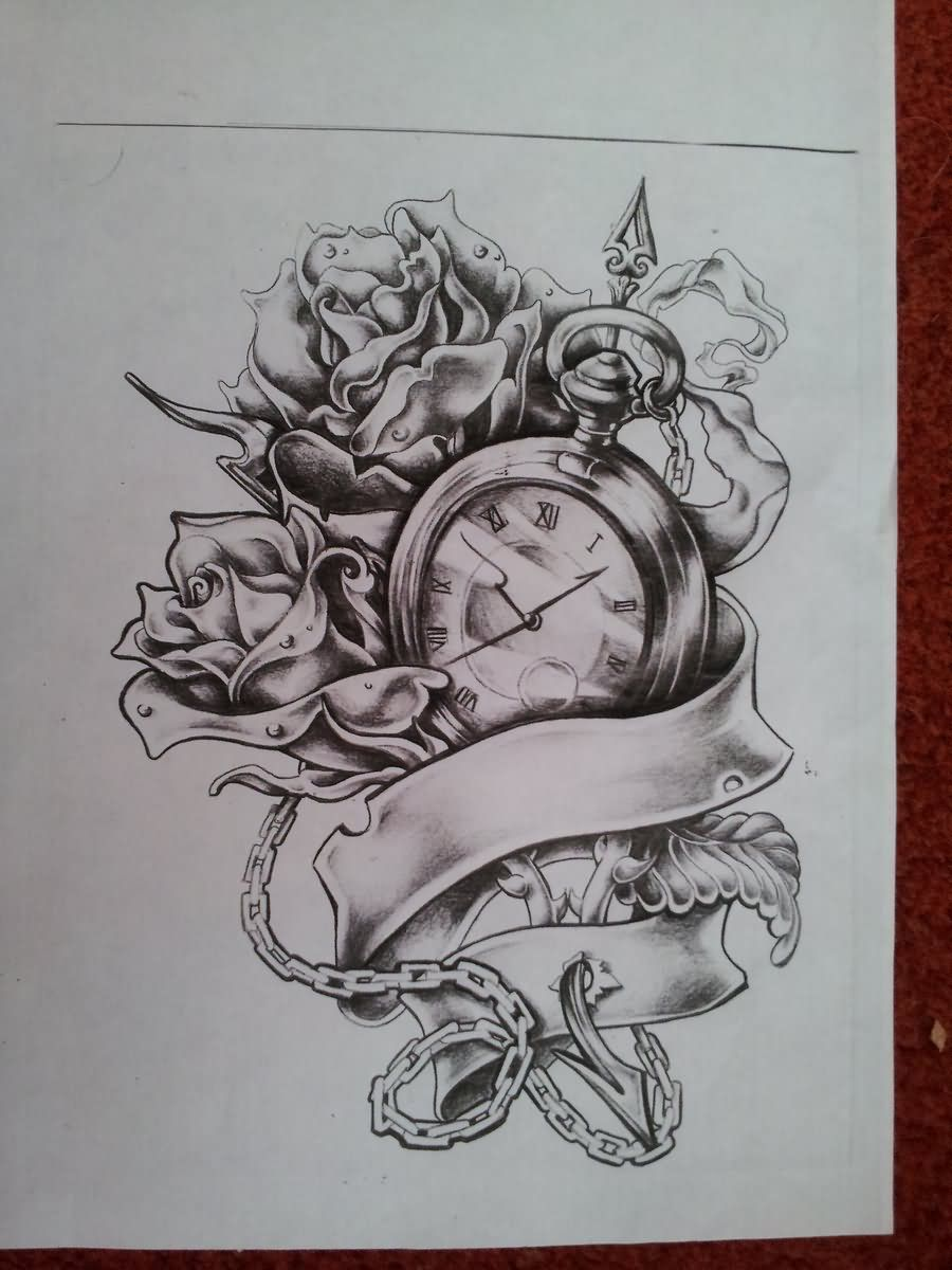 Rose With Ribbon Tattoo Design Photo 3 Tattoos Signs