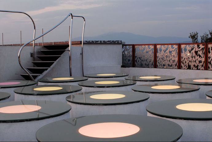 Party Every Night! Color Changing House by Italo Rota, Italy