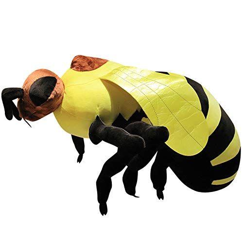 ELAINREN Lifelike Honey Bees Stuffed Animals Fuzzy Bumblebee Plush Toy Pillow Pal Honeybee Huggable Yellow Bumblehoney Dolls Gifts, 20''