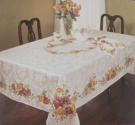 Antiques Loyal Vintage Embroidered Table Cloth And Serviettes High Tea Party Fancy Colours Other Antique Textiles