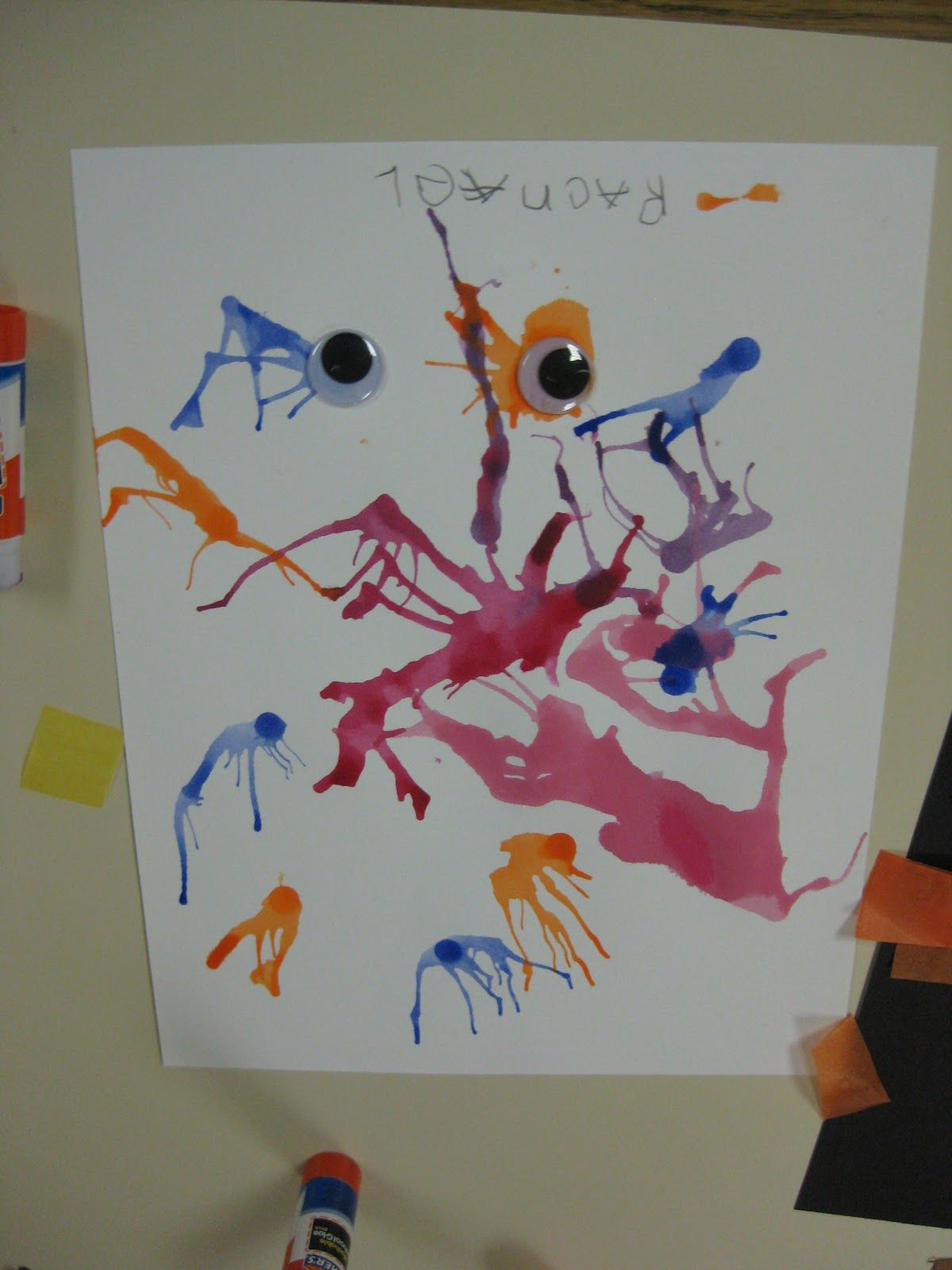 Wacky Wednesday Blow Paint Monsters Eek