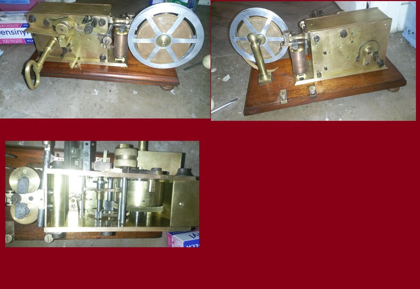Brass French Telegraph Telegraphe 1880 CW Morse TSF Galene | eBay