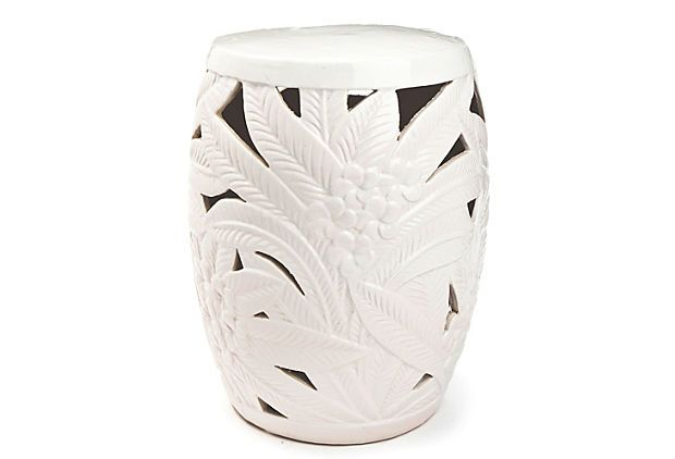 Terrific This Palm Leaf Garden Stool Has Such A Unique Art Deco Feel Ncnpc Chair Design For Home Ncnpcorg
