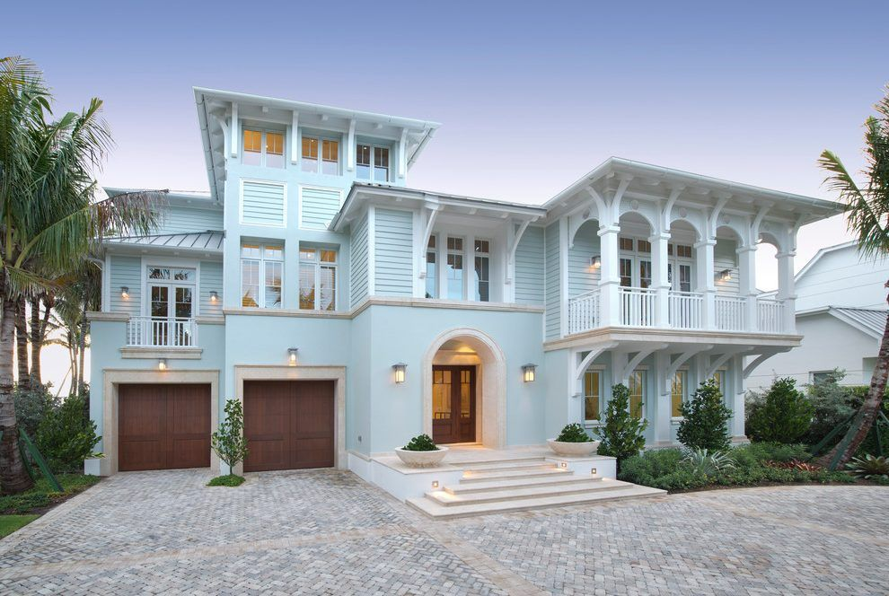 House Exterior Beach Style With Corbels Mahogany Front