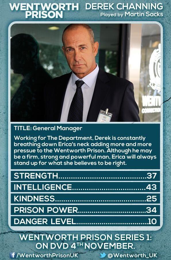 Derek Wentworth Wentworth Prison Wentworth Tv Show Prison